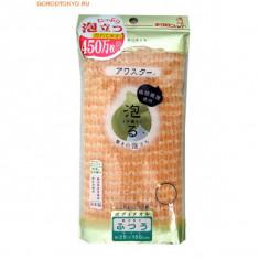 мочалка для тела жесткая объемная персиковая kikulon мочалка авастар