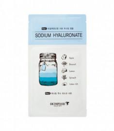 Маска тканевая Гиалуроновая кислота SKINFOOD Boosting Juice 2-step Mask Sheet SODIUM HYALURONATE 23мл