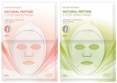 маска для лица двухшаговая nature republic natural peptide 2 step band mask sheet