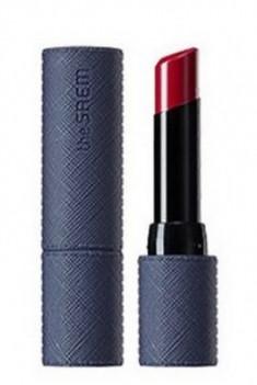 Помада для губ THE SAEM Kissholic Lipstick Leather Glow RD03 Enough Red 3,7г