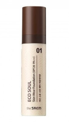 Тональная основа THE SAEM Eco Soul Skin Wear Foundation 01 Nutral tone 30мл