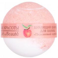Кафе Красоты Бурлящий шарик для ванны Персиковый сорбет 100 г КАФЕ КРАСОТЫ
