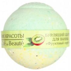 Кафе Красоты Бурлящий шарик для ванны Фруктовый сорбет 100 г КАФЕ КРАСОТЫ