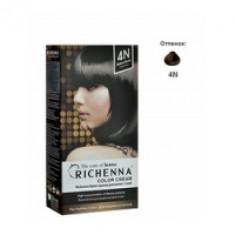 Richenna Color Cream 4 n - Крем-краска для волос с хной, коричневый