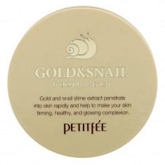 PETITFEE Патчи гидрогелевые с коллоидным золотом и муцином улитки для области вокруг глаз / Eye patch 60 шт