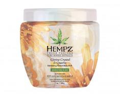HEMPZ Скраб для тела интенсивный с мерцающим эффектом Желтый Кварц / Fresh Fusion Citrine Crystal & Quartz Herbal Body Buff 198 г