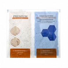 Премиум Суперальгинатная маска Биоплацентарное омоложение с гиалуроновой кислотой,матрица 20г + гель 60мл Premium