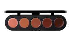 Палетка блесков и помад, 5 цветов Make-Up Atelier Paris №01 бежево-розовая гамма, 10г