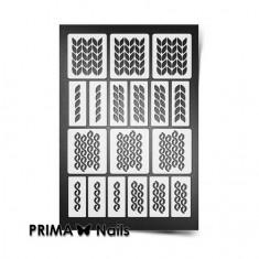 Prima Nails, Трафареты «Вязаная сказка», белые