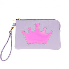 Косметичка-сумочка LADY PINK RAINBOW Crown с голографией