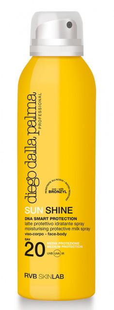 DIEGO DALLA PALMA PROFESSIONAL Молочко-спрей 360 градусов SPF 20 / SUN SHINE MOISTURISING PROTECTIVE MILK SPRAY face-body 150 мл