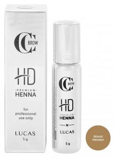 LUCAS' COSMETICS Хна для бровей, миндаль / CC Brow Premium henna HD Almond 5 г