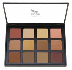 POSH Палетка теней для макияжа, профессиональная 02 (12 оттенков) / Nude Brownie Make Up Palette 160 г