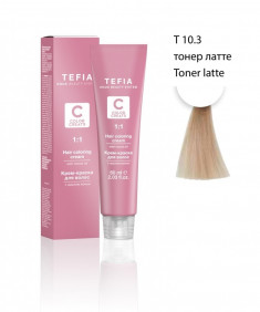 TEFIA Т 10.3 тонер латте / Color creats 60 мл