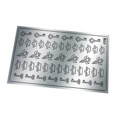 Freedecor, Металлизированные наклейки №175, серебро