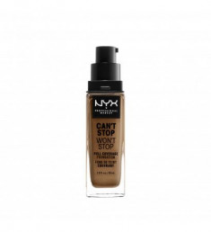 NYX PROFESSIONAL MAKEUP Тональная основа Can't Stop Won't Stop Full Coverage Foundation - Warm Honey 159