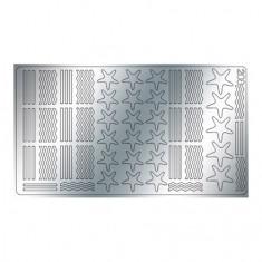 Freedecor, Металлизированные наклейки №208, серебро