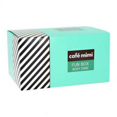 Кафе Красоты Набор подарочный для ухода за телом FUN BOX крем 100мл + соль 100г + мыло 100г + мочалка КАФЕ КРАСОТЫ
