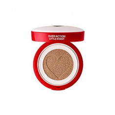 Тональная основа THE SAEM Over Action Little Rabbit Love Me Cushion №21 Light Beige 14г