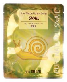 Маска тканевая с муцином улитки THE SAEM Pure Natural Mask Sheet Snail 20мл