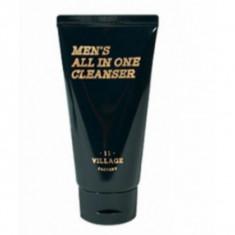 мужская увлажняющая пенка-скраб для умывания и бритья village 11 factory men's all in one cleanser