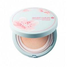 тональная основа-кушон с экстрактом цветка вишни secret nature cherry blossom pink tone up sun cushion spf50+/pa++++