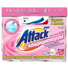 Kao Attack New Beads Концентрированный стиральный порошок с кондиционером, 800 гр