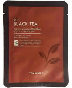 TONY MOLY Маска с экстрактом черного чая для лица / THE BLACK TEA MASK SET 5 SHEETS 5*25 г