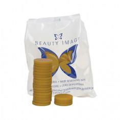 Beauty Image, Горячий воск в дисках «Стандарт», желтый, 1000 г