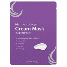 тканевая маска с кремовой эссенцией la soyul marine collagen cream mask