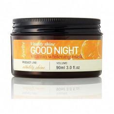 маска ночная с витаминами для ровного тона кожи aperire vitality shine good night vitamin whitening mask