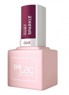 E.MI 069 DV гель-лак для ногтей, Рубиновый блеск / E.MiLac Dolce Vita 9 мл