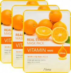 Тканевая маска с витаминами Juno Jluna REAL ESSENCE MASK PACK VITAMIN 25мл*3шт