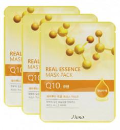 Тканевая маска с коэнзимом Q10 JUNO Real essence mask pack Q10 25мл*3шт
