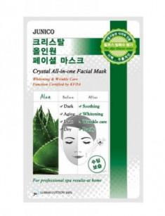 Маска тканевая c алоэ Mijin Junico Crystal All-in-one Facial Mask Aloe 25г