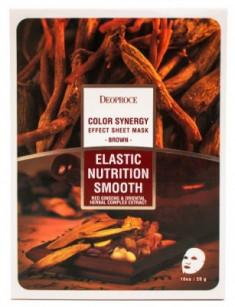 Маска с восточными травами и женьшенем DEOPROCE Color synergy effect sheet mask brown 20г
