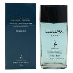увлажняющий тонер для мужчин с коллагеном и зеленым чаем lebelage collagen+green tea skincare utilites for men skin