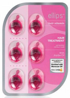 ELLIPS Масло для восстановления волос после химического воздействия, розовые капсулы / Hair Treatment 6 шт (5,49 г)