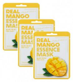 Тканевая маска для лица с экстрактом манго FarmStay Real Mango Essence Mask 23мл*3 DEOPROCE