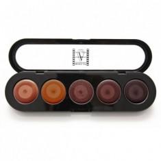Палетка помад, 5 цветов Make-Up Atelier Paris №16 золотой песок 10 г