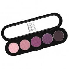Палитра теней, 5 цветов Make-Up Atelier Paris T28 винно-фиолетовые тона