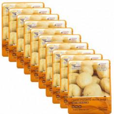 Набор Тканевых масок КАРТОФЕЛЬ 3W CLINIC Fresh Potato Mask Sheet 10 шт