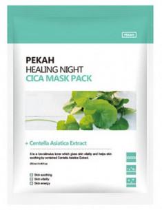 Тканевая маска с экстрактом центеллы азиатской PEKAH Healing Night Cica Mask Pack 25мл*5шт