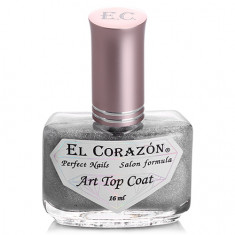 El Corazon, Топ Art Top Coat №421/23 Holography rainbow, 16 мл