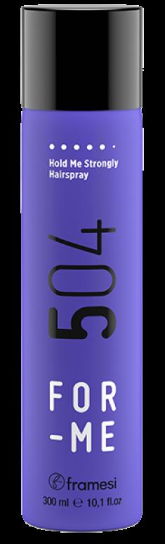 FRAMESI Лак неаэрозольный сильной фиксации для волос / FOR-ME 504 HOLD ME STRONGLY HAIRSPRAY 300 мл