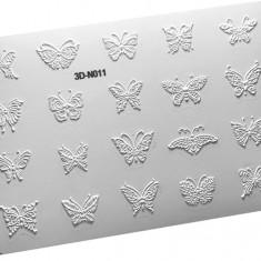 AnnaTkacheva,3D-стикер№011,белый «Бабочки» Anna Tkacheva