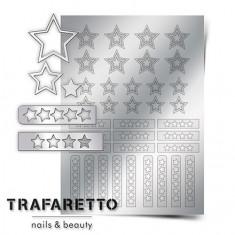 Trafaretto, Металлизированные наклейки UZ-02, серебро