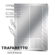 Trafaretto, Металлизированные наклейки GM-05, серебро