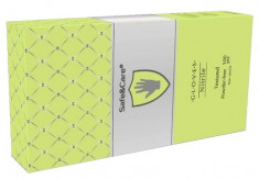 SAFE & CARE Перчатки нитриловые, зеленые (лайм), размер S / Safe & Care 100 шт