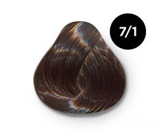 OLLIN PROFESSIONAL 7/1 краска для волос, русый пепельный / OLLIN COLOR 100 мл